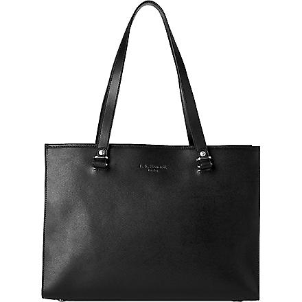 LK BENNETT Karina mini leather tote (Bla-black