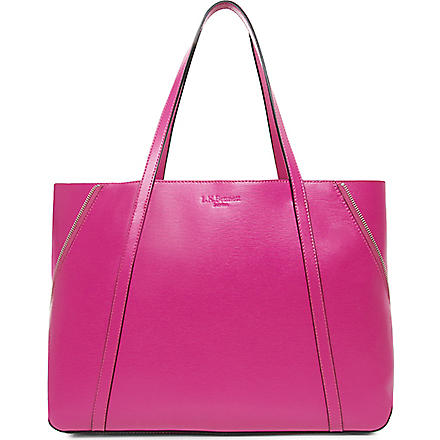 LK BENNETT Kelly leather tote (Pin-fuchsia
