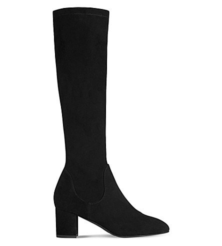 LK BENNETT Keri suede knee-high boots (Bla-black