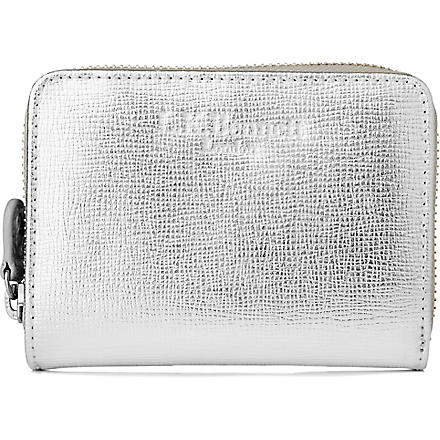 LK BENNETT Kiara leather purse (Sil-silver