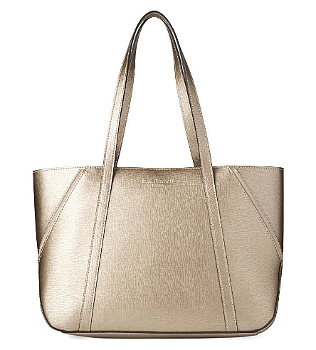 LK BENNETT Kiki leather tote (Gol-gold