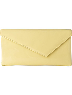 LK BENNETT Leonie patent-leather clutch