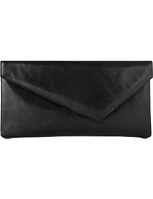 LK BENNETT Leonie patent-leather clutch
