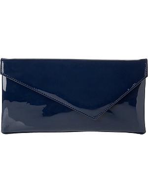 LK BENNETT Leonie patent leather clutch