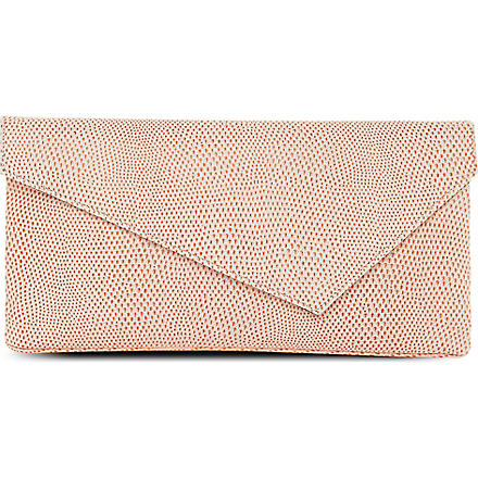 LK BENNETT Leonie leather clutch (Pri-orange