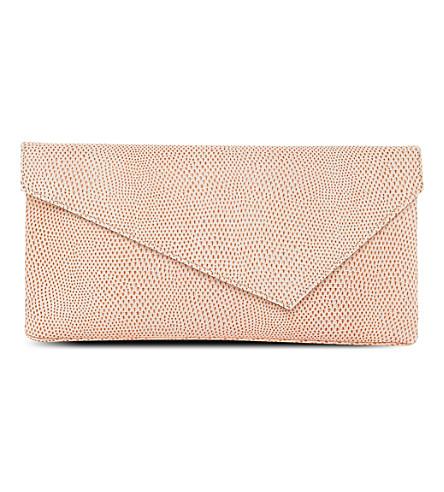 LK BENNETT Leonie leather clutch (Pri-orange
