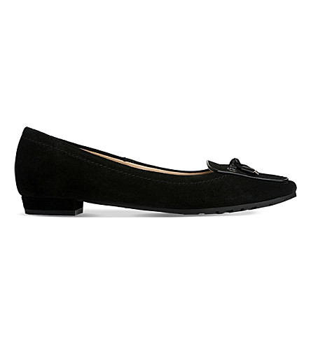 LK BENNETT Marais tasselled suede loafers (Bla-black