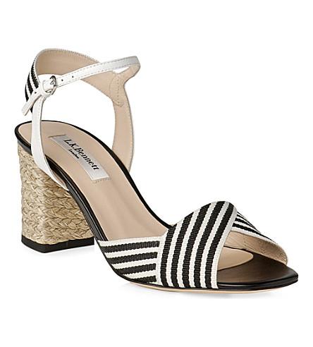 LK BENNETT Marlene block heel sandals (Blu-navywhite