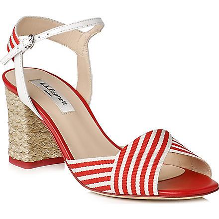 LK BENNETT Marlene block heel sandals (Pin-raspberrywhite
