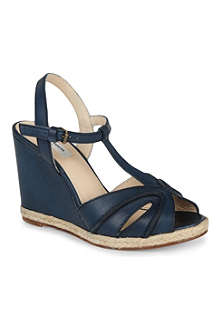 LK BENNETT Milos leather wedge sandals