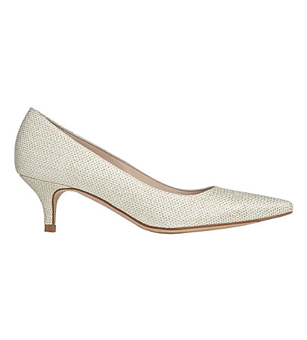 LK BENNETT Minu patent-leather courts (Gol-soft+gold
