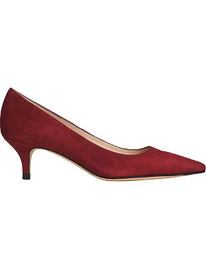 LK BENNETT Minu kitten-heel court shoes