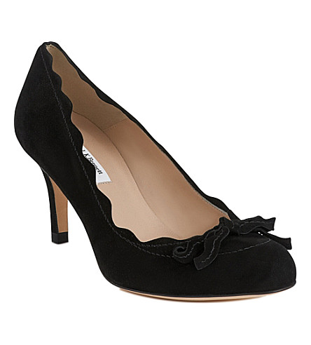 LK BENNETT Molly suede courts (Bla-black