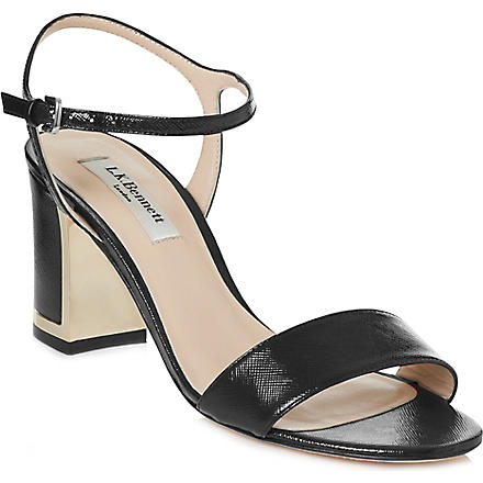 LK BENNETT Morgan leather sandals (Bla-black