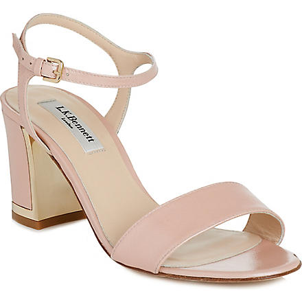LK BENNETT Morgan leather sandals (Pin-rose