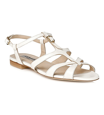LK BENNETT Naomi leather gladiator sandals (Whi-white