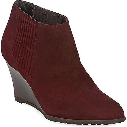LK BENNETT Nora suede wedge boots (Bor-bordeaux