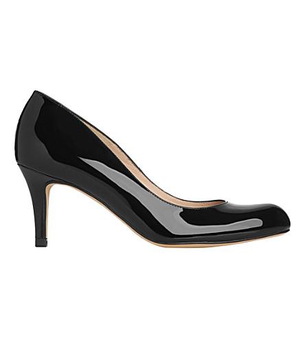 LK BENNETT Opal mid heeled patent leather court shoes (Bla-black
