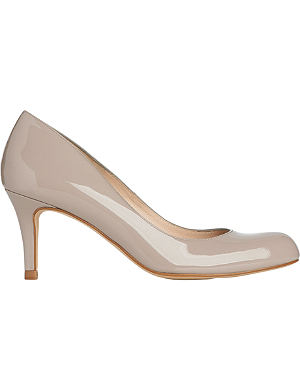 LK BENNETT Opal mid heeled patent leather court shoes