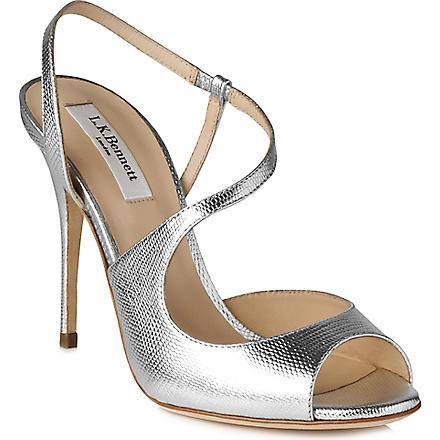 LK BENNETT Palma leather sandals (Sil-silver