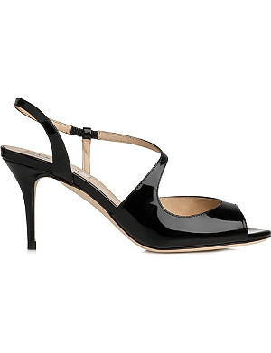 LK BENNETT Palmita patent leather sandals