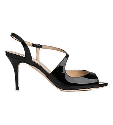 LK BENNETT Palmita patent leather sandals (Bla-black