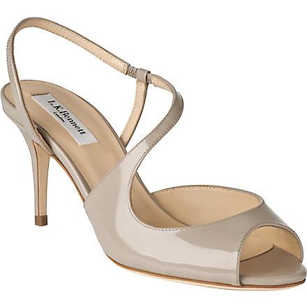 LK BENNETT Palmita leather sandals (Gry-clay