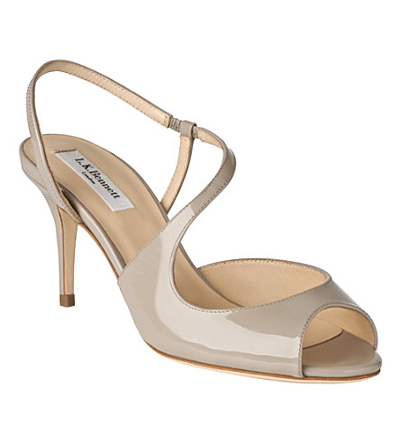 LK BENNETT Palmita leather sandals (Gry-clay