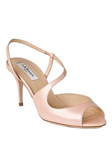LK BENNETT Palmita saffiano leather sandals
