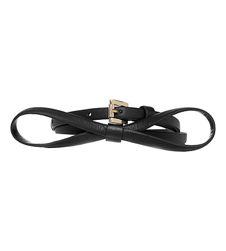 LK BENNETT Pam leather skinny belt (Bla-black