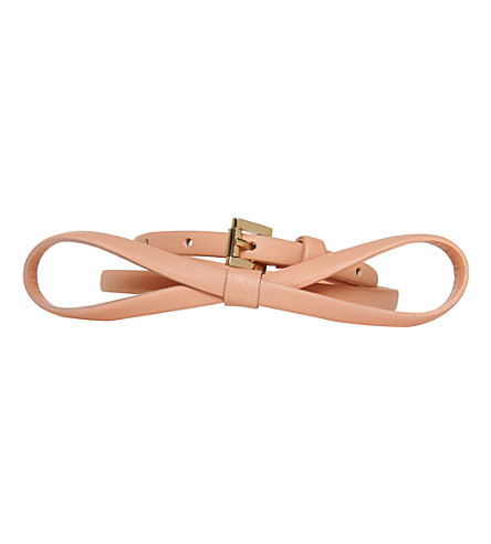 LK BENNETT Pam leather skinny belt (Pin-pale pink