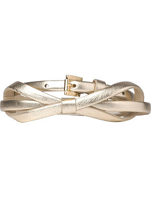 LK BENNETT Pam skinny leather bow belt