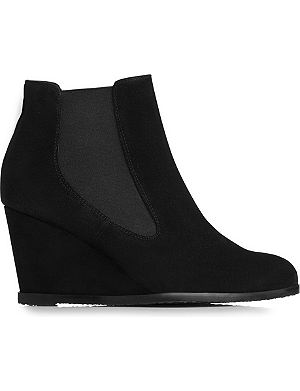 LK BENNETT Paris suede wedge ankle boots