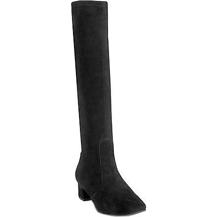LK BENNETT Portman suede riding boots (Bla-black