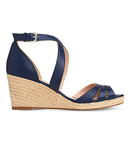 LK BENNETT Priya espadrille wedge sandals (Blu-denim