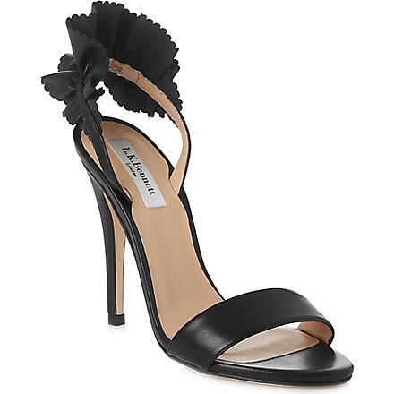 LK BENNETT Renae leather sandals (Bla-black