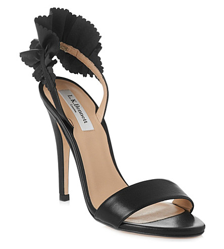 LK BENNETT Renae leather sandals (Bla-black