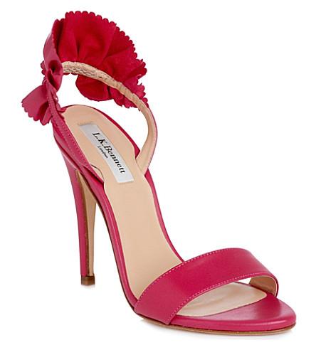 LK BENNETT Renae leather sandals (Pin-fuchsia