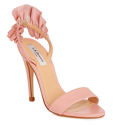 LK BENNETT Renae leather sandals (Pin-peony