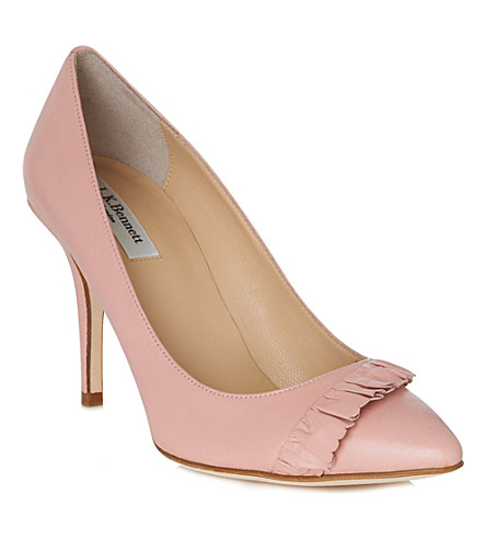 LK BENNETT Rihanna leather courts (Pin-peony