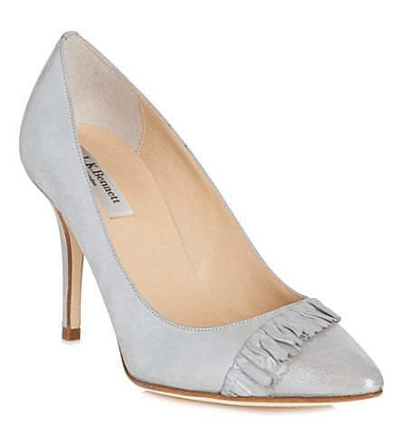 LK BENNETT Rihanna leather courts (Sil-silver