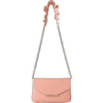 LK BENNETT Riri leather shoulder bag (Pin-peony