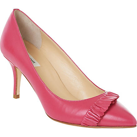 LK BENNETT Roisin leather courts (Pin-fuchsia