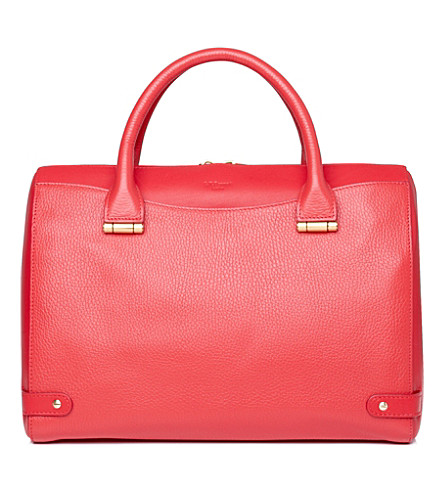 LK BENNETT Rosamund medium leather tote (Pin-coral