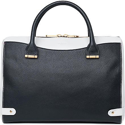 LK BENNETT Rosamund medium leather bowling bag (Blu-navy multi