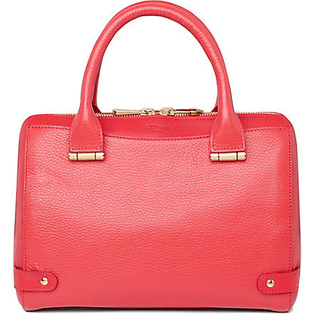 LK BENNETT Rosie small leather bowling bag (Pin-coral