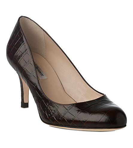 LK BENNETT Sabira leather courts (Bro-chocolate