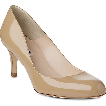 LK BENNETT Sabira mid-heel leather courts (Taupe