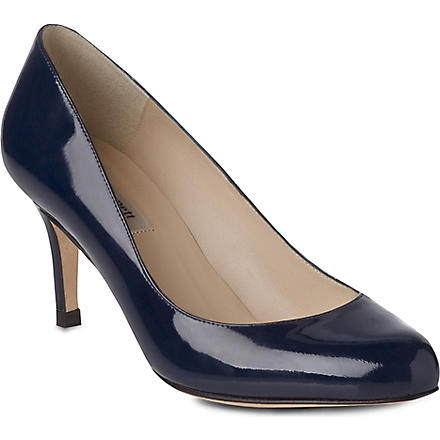 LK BENNETT Samira patent leather courts (Blu-navy