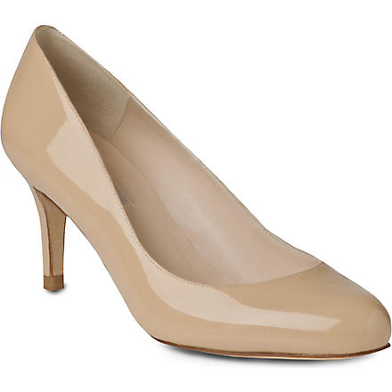 LK BENNETT Samira patent leather courts (Tau-taupe